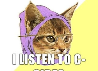 Hipster Kitty i listen to c sides4