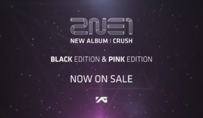 2ne1 crush album advert